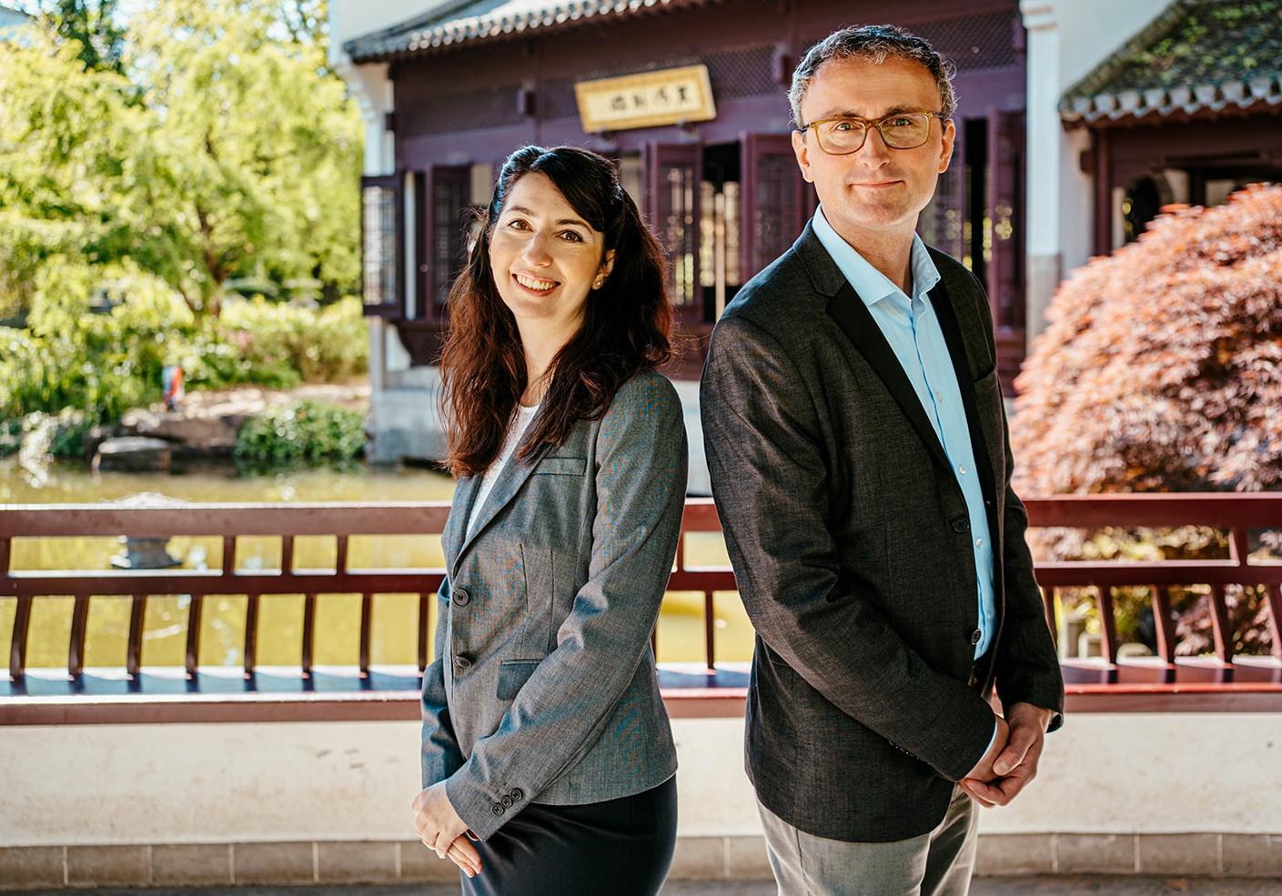 Alexandra Stefanov und Tobias Loitsch